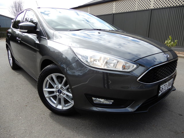 Used Ford Focus LZ Trend Glenelg, 2018 Ford Focus LZ Trend Grey 6 Speed Automatic Hatchback