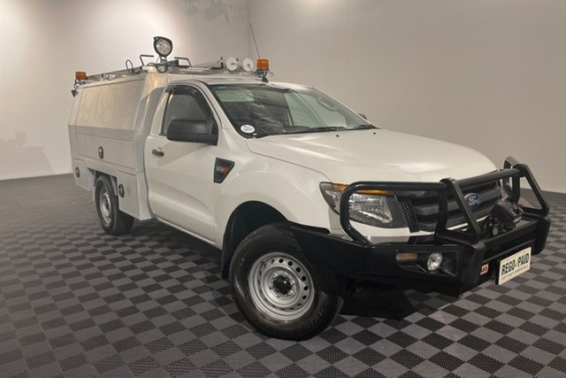 Used Ford Ranger PX XL Acacia Ridge, 2015 Ford Ranger PX XL White 6 speed Automatic Cab Chassis