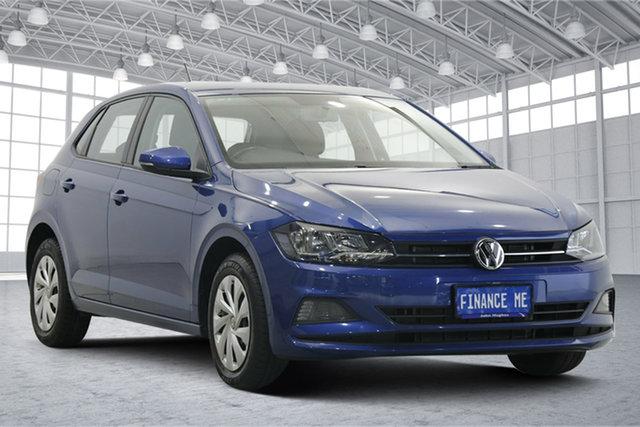 Used Volkswagen Polo AW MY19 70TSI DSG Trendline Victoria Park, 2019 Volkswagen Polo AW MY19 70TSI DSG Trendline Reef Blue Metallic 7 Speed