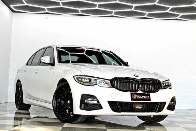Used BMW 330i F30 LCI M Sport Burleigh Heads, 2019 BMW 330i F30 LCI M Sport White 8 Speed Auto Steptronic Sport Sedan