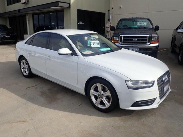 Used Audi A4 B8 (8K) MY13 1.8 TFSI Wangara, 2012 Audi A4 B8 (8K) MY13 1.8 TFSI White Diamond CVT Multitronic Sedan