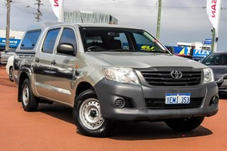 2013 Toyota Hilux TGN16R MY12 Workmate Double Cab 4x2 Grey 4 Speed Automatic Utility.