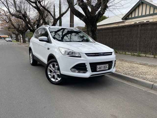 Pre-Owned Ford Kuga TF MY16.5 Trend AWD Hawthorn, 2016 Ford Kuga TF MY16.5 Trend AWD White 6 Speed Sports Automatic Wagon