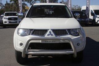 2011 Mitsubishi Triton MN MY12 GLX-R Double Cab White Solid 5 Speed Sports Automatic Utility