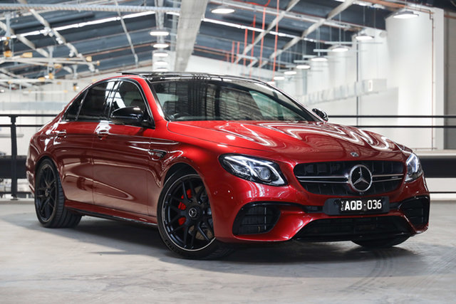Certified Pre-Owned Mercedes-Benz E-Class W213 808MY E63 AMG SPEEDSHIFT MCT 4MATIC+ Mulgrave, 2017 Mercedes-Benz E-Class W213 808MY E63 AMG SPEEDSHIFT MCT 4MATIC+ Hyacinth Red 9 Speed