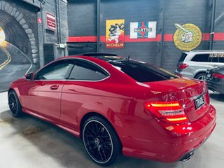 2013 Mercedes-Benz C-Class C204 MY13 C180 BlueEFFICIENCY 7G-Tronic + Red 7 Speed Sports Automatic