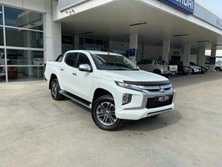 2019 Mitsubishi Triton MR MY20 GLS Double Cab White 6 Speed Sports Automatic Utility.
