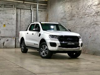 2021 Ford Ranger PX MkIII 2021.25MY Wildtrak White 10 Speed Sports Automatic Double Cab Pick Up.