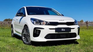 2021 Kia Rio YB MY22 GT-Line DCT Clear White 7 Speed Automatic Hatchback.