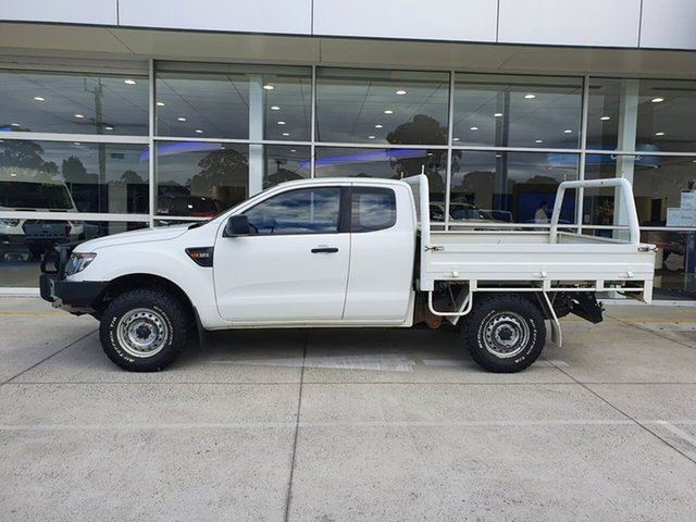 Used Ford Ranger PX XL Ferntree Gully, 2014 Ford Ranger PX XL White 6 Speed Manual Cab Chassis
