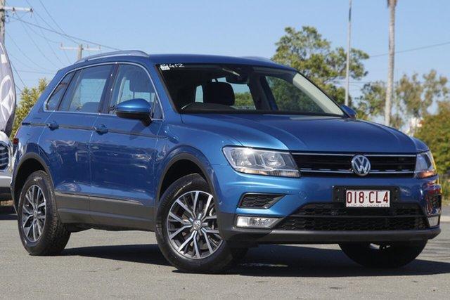 Used Volkswagen Tiguan 5N MY17 132TSI DSG 4MOTION Comfortline Rocklea, 2016 Volkswagen Tiguan 5N MY17 132TSI DSG 4MOTION Comfortline Caribbean Blue/cloth 7 Speed