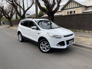 2016 Ford Kuga TF MY16.5 Trend AWD White 6 Speed Sports Automatic Wagon.