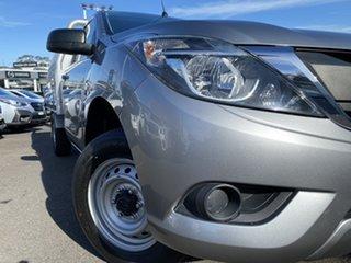 2016 Mazda BT-50 UR0YD1 XT 4x2 Silver 6 Speed Manual Cab Chassis.