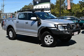 2014 Ford Ranger PX XLS 3.2 (4x4) Silver 6 Speed Manual Double Cab Pick Up.