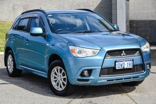 2012 Mitsubishi ASX XA MY12 2WD Blue 6 Speed Constant Variable Wagon.