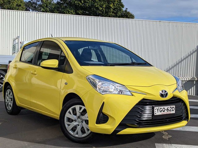 Used Toyota Yaris NCP130R Ascent Wollongong, 2017 Toyota Yaris NCP130R Ascent Yellow 4 Speed Automatic Hatchback