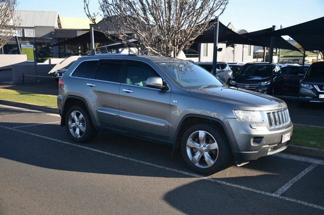 Used Jeep Grand Cherokee WK MY12 Limited (4x4) Toowoomba, 2012 Jeep Grand Cherokee WK MY12 Limited (4x4) Grey 5 Speed Automatic Wagon