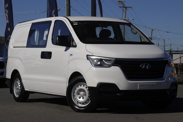 Used Hyundai iLOAD TQ4 MY19 Crew Cab Rocklea, 2018 Hyundai iLOAD TQ4 MY19 Crew Cab Creamy White 5 Speed Automatic Van