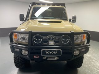 2021 Toyota Landcruiser VDJ79R GXL Double Cab Beige 5 Speed Manual Cab Chassis.