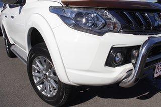 2017 Mitsubishi Triton MQ MY17 GLS Double Cab White Solid 6 Speed Manual Utility.