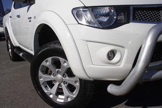 2011 Mitsubishi Triton MN MY12 GLX-R Double Cab White Solid 5 Speed Sports Automatic Utility.