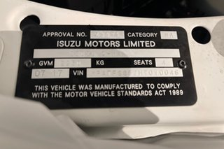 2017 Isuzu D-MAX MY17 SX Space Cab Splash 6 speed Automatic Cab Chassis