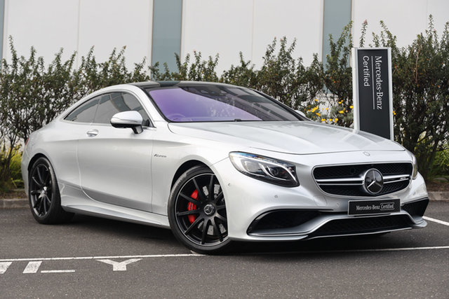 Certified Pre-Owned Mercedes-Benz S-Class C217 806MY S63 AMG SPEEDSHIFT MCT Mulgrave, 2015 Mercedes-Benz S-Class C217 806MY S63 AMG SPEEDSHIFT MCT Iridium Silver 7 Speed Sports Automatic