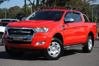 2015 Ford Ranger PX XLT Double Cab Red 6 Speed Manual Utility.