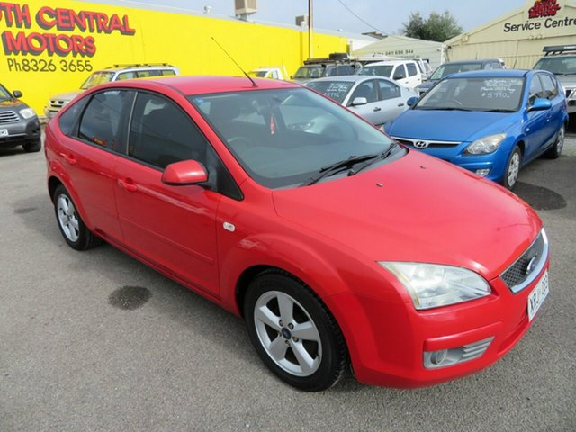 Used Ford Focus LX Morphett Vale, 2005 Ford Focus LX Red 4 Speed Automatic Hatchback