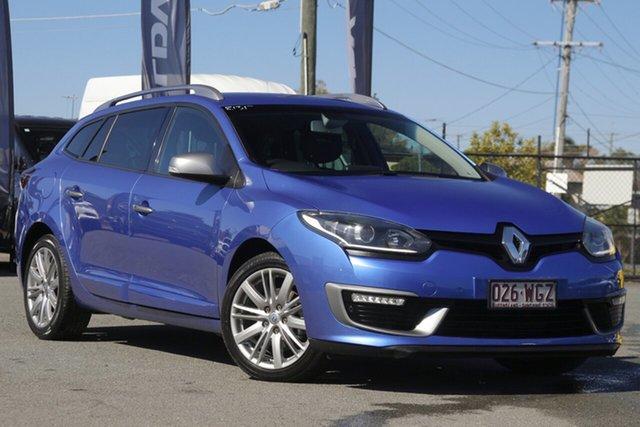Used Renault Megane III K95 Phase 2 GT-Line Sportwagon EDC Rocklea, 2016 Renault Megane III K95 Phase 2 GT-Line Sportwagon EDC Malta Blue 6 Speed