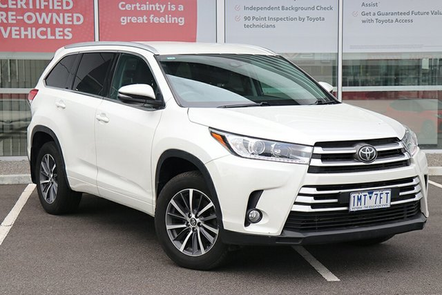 Pre-Owned Toyota Kluger GSU50R GXL 2WD South Morang, 2018 Toyota Kluger GSU50R GXL 2WD Pearl 8 Speed Sports Automatic Wagon