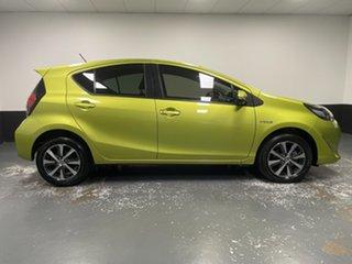 2018 Toyota Prius c NHP10R i-Tech E-CVT Yellow 1 Speed Constant Variable Hatchback Hybrid.