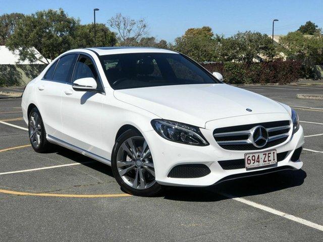 Used Mercedes-Benz C-Class W205 807MY C200 7G-Tronic + Chermside, 2016 Mercedes-Benz C-Class W205 807MY C200 7G-Tronic + White 7 Speed Sports Automatic Sedan