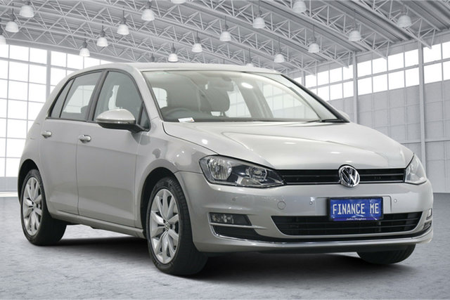 Used Volkswagen Golf VII 103TSI DSG Highline Victoria Park, 2013 Volkswagen Golf VII 103TSI DSG Highline Tungsten Silver 7 Speed Sports Automatic Dual Clutch