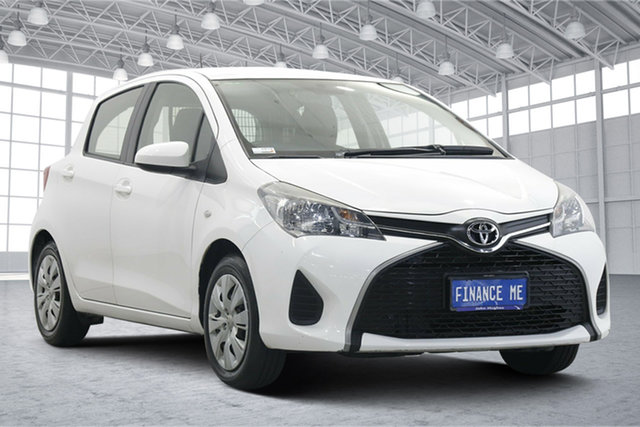 Used Toyota Yaris NCP130R Ascent Victoria Park, 2016 Toyota Yaris NCP130R Ascent White 4 Speed Automatic Hatchback