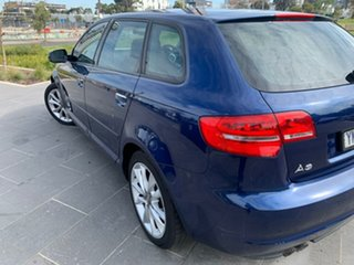 2011 Audi A3 8P MY12 Ambition Sportback S Tronic Blue 7 Speed Sports Automatic Dual Clutch Hatchback