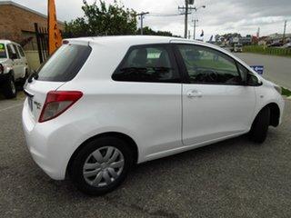 2013 Toyota Yaris NCP130R YR White 5 Speed Manual Hatchback.