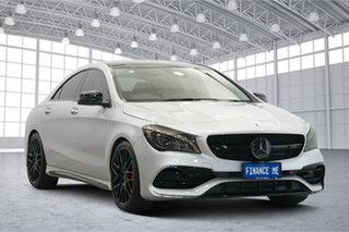 2018 Mercedes-Benz CLA-Class C117 808+058MY CLA45 AMG SPEEDSHIFT DCT 4MATIC Silver 7 Speed.