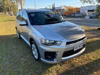 2010 Mitsubishi Outlander ZH MY10 RX Silver 6 Speed Constant Variable Wagon.