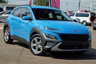 2021 Hyundai Kona Os.v4 MY21 Active 2WD Blue 8 Speed Constant Variable Wagon.
