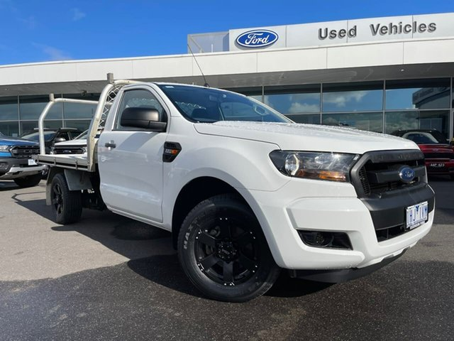Used Ford Ranger PX MkII XL Essendon Fields, 2015 Ford Ranger PX MkII XL White 6 Speed Manual Cab Chassis