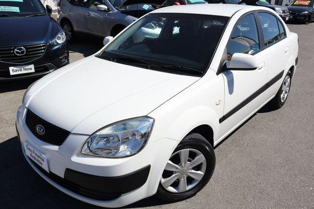 Used Kia Rio JB MY06 EX-L Moorooka, 2006 Kia Rio JB MY06 EX-L White 5 Speed Manual Sedan