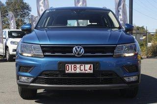 2016 Volkswagen Tiguan 5N MY17 132TSI DSG 4MOTION Comfortline Caribbean Blue/cloth 7 Speed