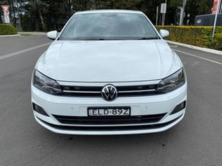 2021 Volkswagen Polo AW MY21 85TSI DSG Style White 7 Speed Sports Automatic Dual Clutch Hatchback.