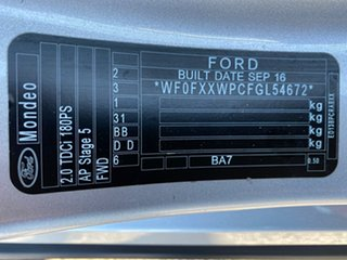 2016 Ford Mondeo MD Ambiente Silver, Chrome 6 Speed Sports Automatic Dual Clutch Wagon