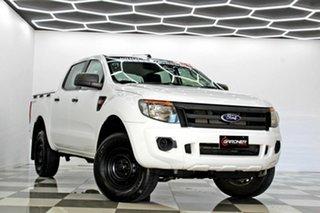 2015 Ford Ranger PX XL 2.2 Hi-Rider (4x2) White 6 Speed Automatic Crew Cab Pickup.