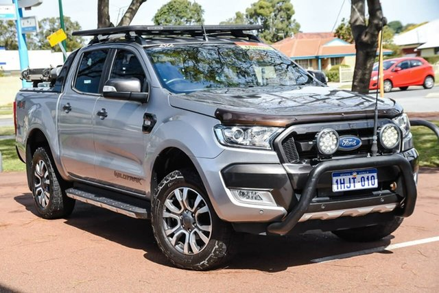 Used Ford Ranger PX MkII Wildtrak Double Cab Attadale, 2016 Ford Ranger PX MkII Wildtrak Double Cab Silver 6 Speed Manual Utility