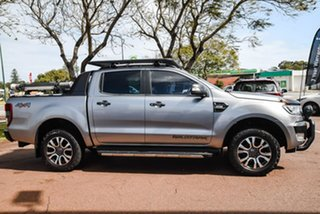 2016 Ford Ranger PX MkII Wildtrak Double Cab Silver 6 Speed Manual Utility.