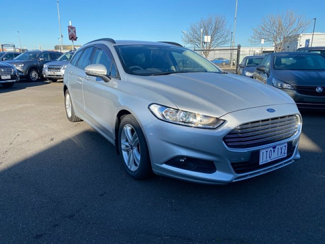 Used Ford Mondeo MD Ambiente Essendon Fields, 2016 Ford Mondeo MD Ambiente Silver, Chrome 6 Speed Sports Automatic Dual Clutch Wagon
