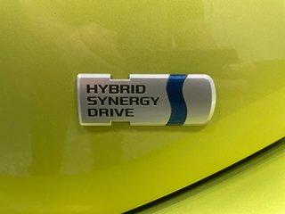 2018 Toyota Prius c NHP10R i-Tech E-CVT Yellow 1 Speed Constant Variable Hatchback Hybrid